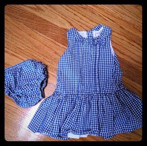 Janie & Jack blue gingham dress